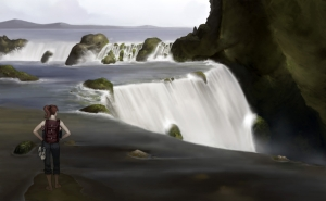 healthy living waterfall