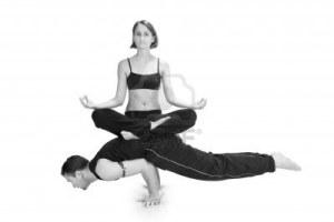 yoga female on top