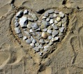 healthy living beach heart